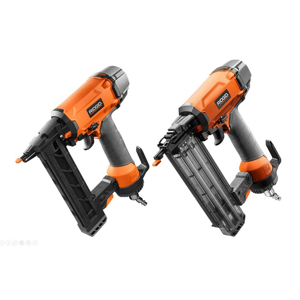 "RIDGID 18-Gauge 1-1/2 "" Finish Stapler and 18-Gauge 2-1/8 "" Brad Nailer Kit"