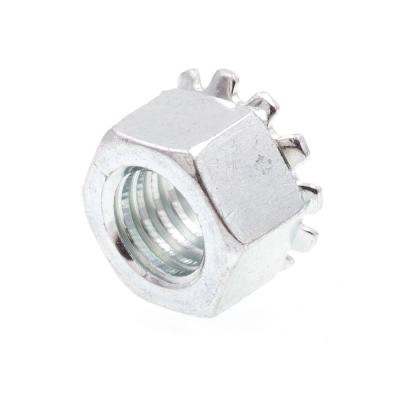 3/8 in.-16 Zinc Plated Steel K-Lock Nuts with External Tooth Washer (50-Pack)