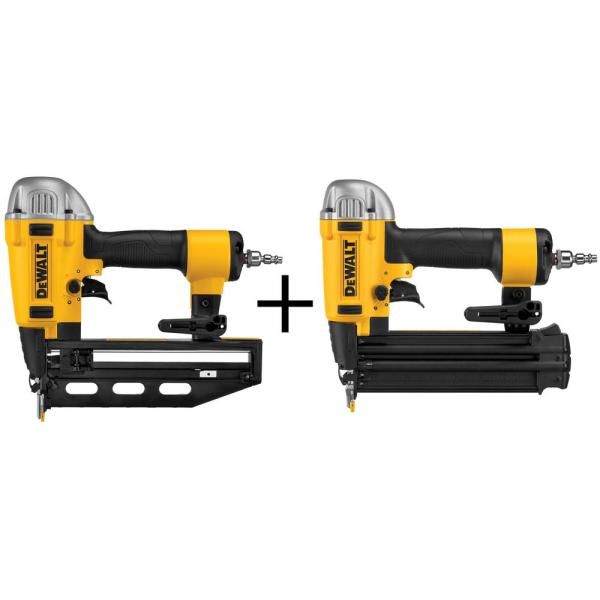 DEWALT Pneumatic 16-Gauge 2-1/2 in. Nailer with Bonus 18-Gauge Pneumatic Brad Nailer