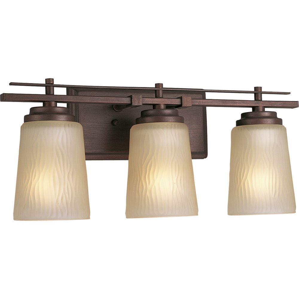 Progress Lighting Riverside Collection 3-Light Heirloom Bath Light