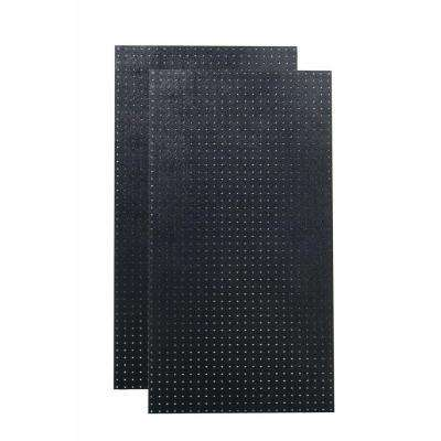 24 in. H x 48 in. W (2) Black Polyethylene Matte Front Texture Pegboards