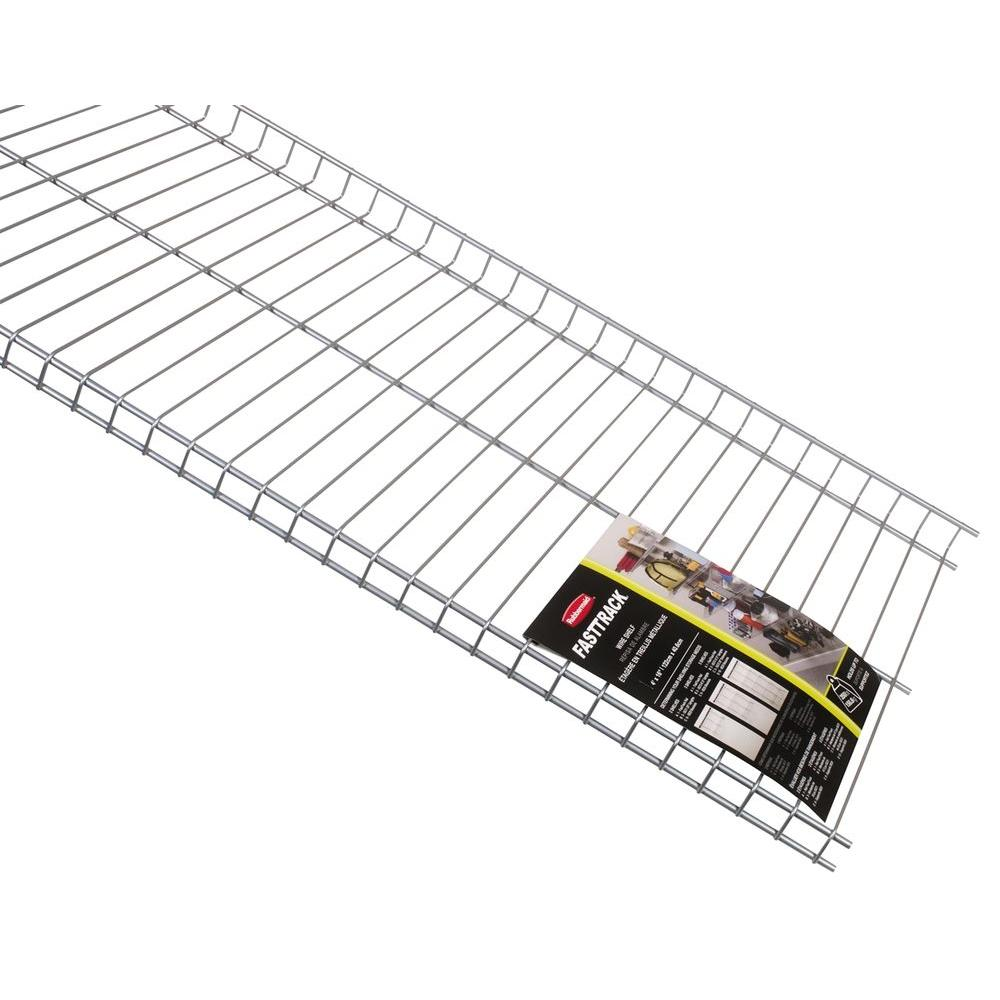Rubbermaid FastTrack Garage 48 in x 16 in Wire ShelfFG5E2102SNCKL