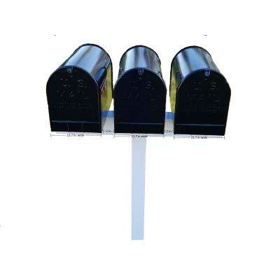 42 in. x 40 in. x 5 in. Vinyl Sleeve Post for 3 XL Mailboxes, White