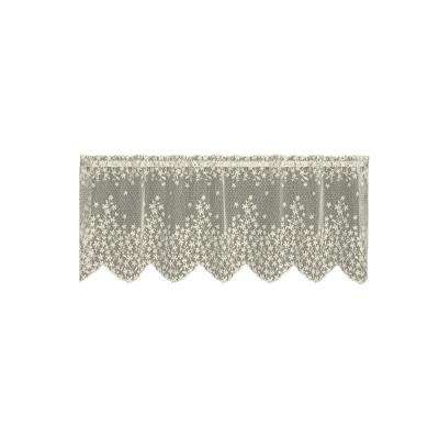 Blossom 42 in. L Polyester Valance in Ecru