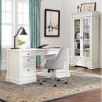 Home Decorators Collection Bufford Rubbed Ivory Desk with Storage