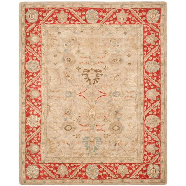 Anatolia Taupe/Red 8 ft. x 10 ft. Area Rug