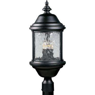 Ashmore Collection Textured Black 3-Light Outdoor Post Lantern