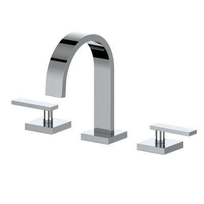 Alpine 8 in. Widespread 2-Handles Bathroom Faucet in Chrome