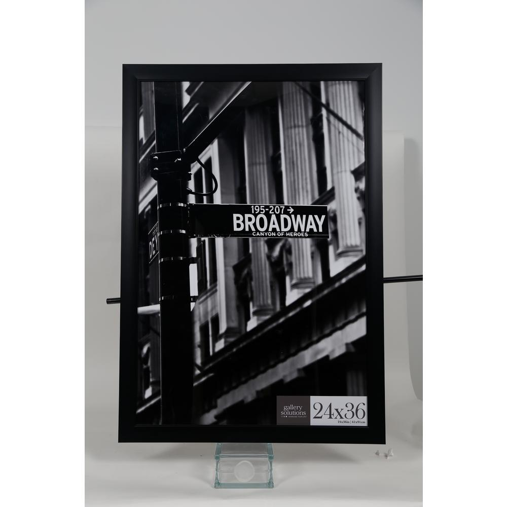 Pinnacle 24 in. x 36 in. Black Flat Picture Frame-16FW2223 - The ...