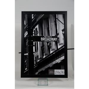 Pinnacle 24 inch x 36 inch Black Flat Picture Frame by Pinnacle