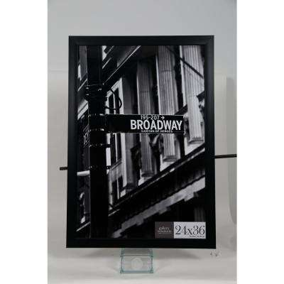 24 in. x 36 in. Black Flat Picture Frame