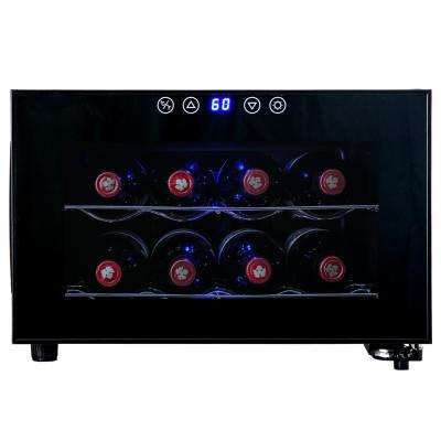 8-Bottle Single Zone Thermoelectric Wine Cooler in Black