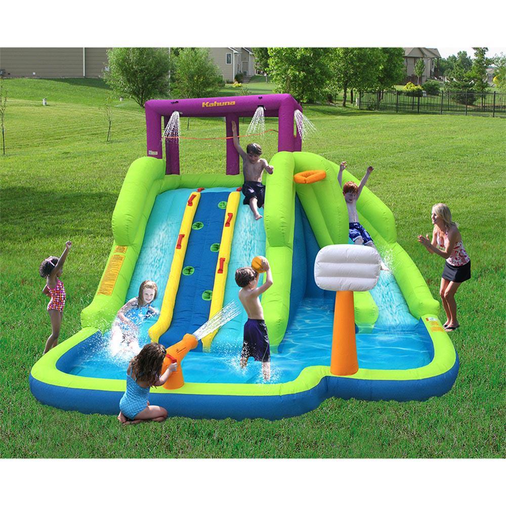 Kahuna Triple Blast Outdoor Inflatable Splash Pool