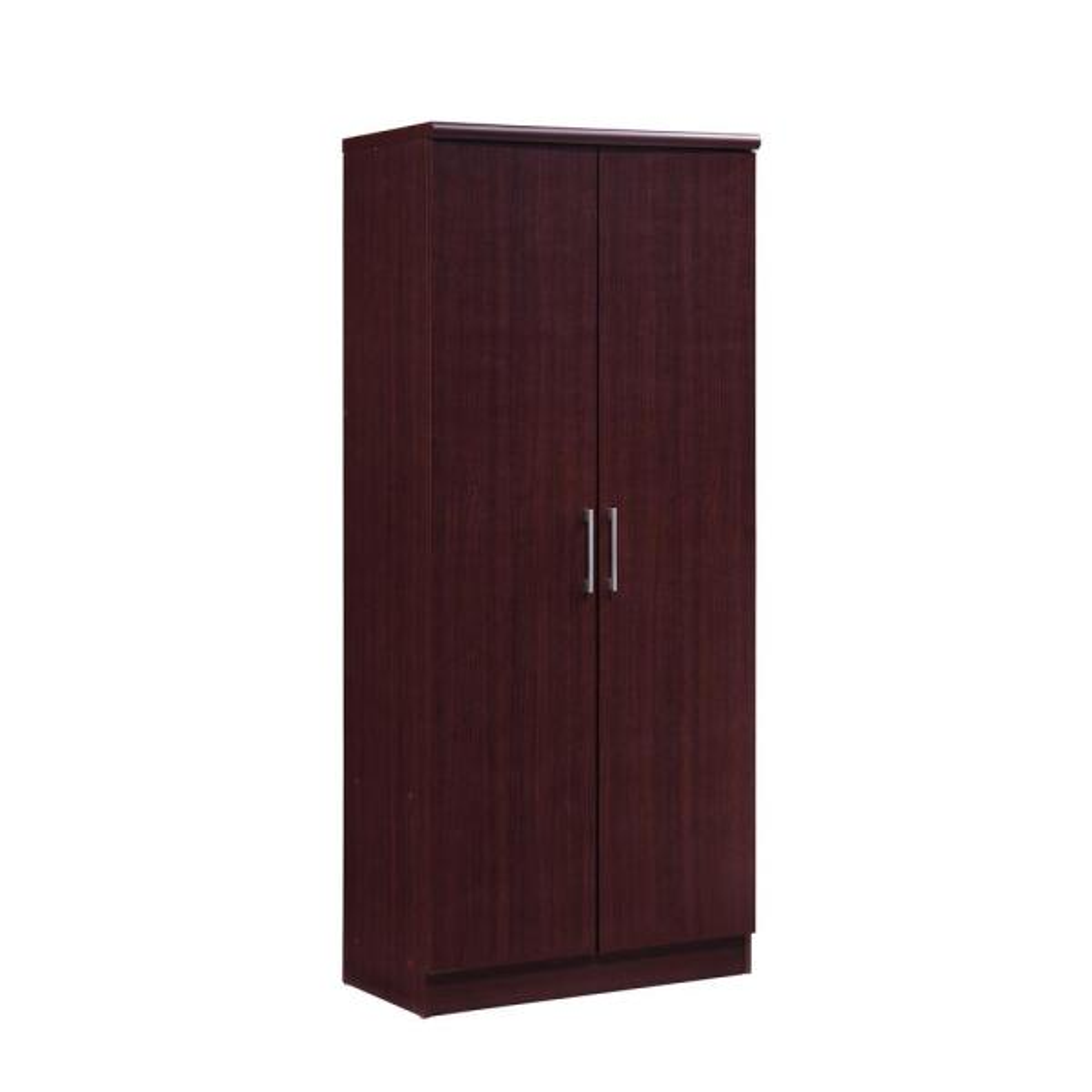 Hodedah 2-Door Mahogany Armoire with Shelves HID8600 Mahogany