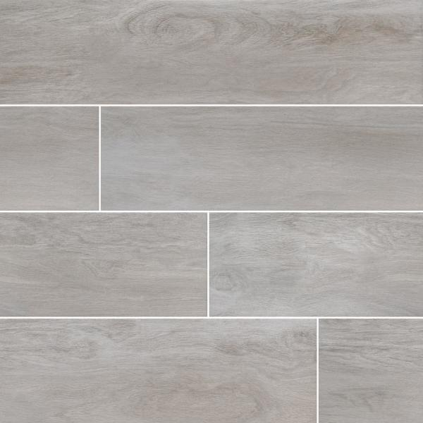 Springwood Beech 8 in. x 48 in. Matte Porcelain Floor and Wall Tile (10.66 sq. ft. / case)