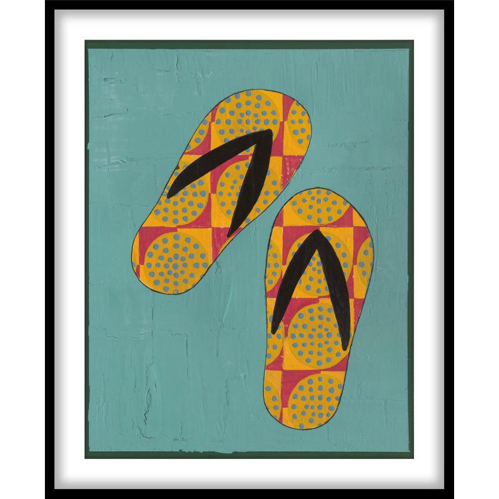 9 75 In X 11 Flip Flop Fun I Framed Wall Art