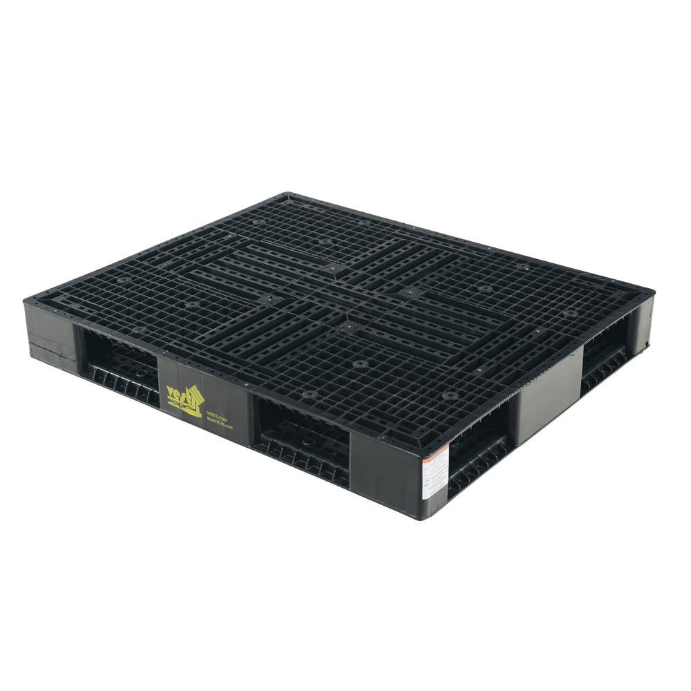 Vestil 48 in  x 40 in  x 5 in  Black Plastic Pallet/Skid