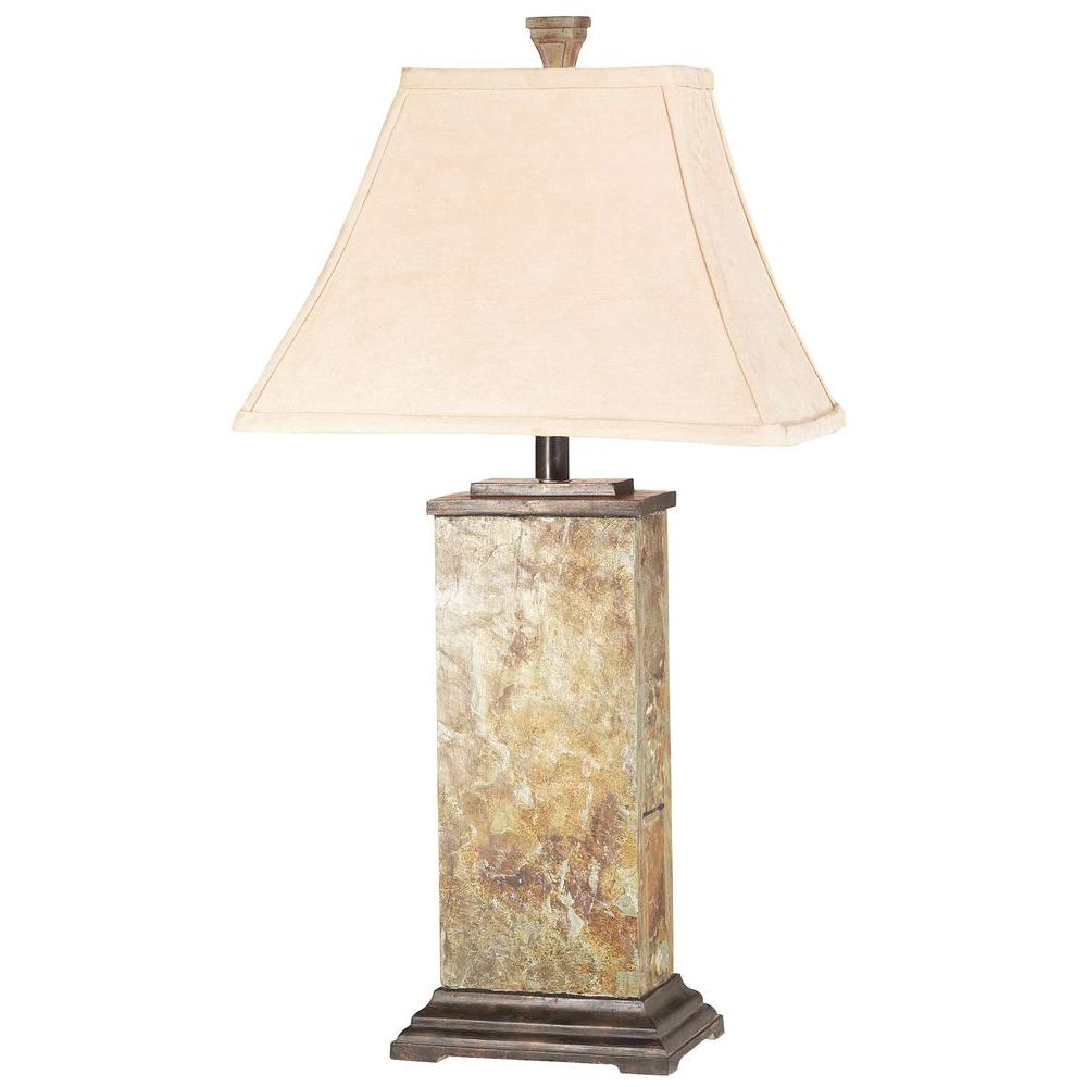 Kenroy Home Bennington 29 in. Natural Slate Table Lamp-31202 - The ...