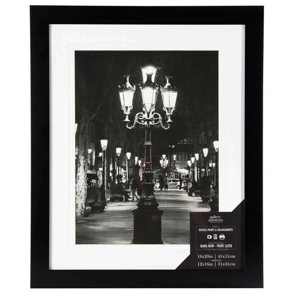 Pinnacle 1-Opening 12 in. x 16 in. Matted Picture Frame-16FW1048E ...