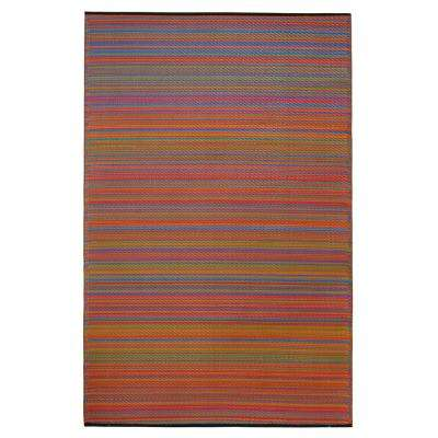 Cancun Indoor/Outdoor Multicolor 8 ft. x 10 ft. Area Rug