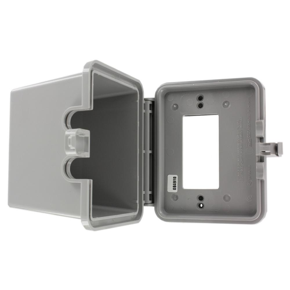 Decora/GFCI 1-Gang Raintight While-In-Use Device Mount Horizontal Cover with