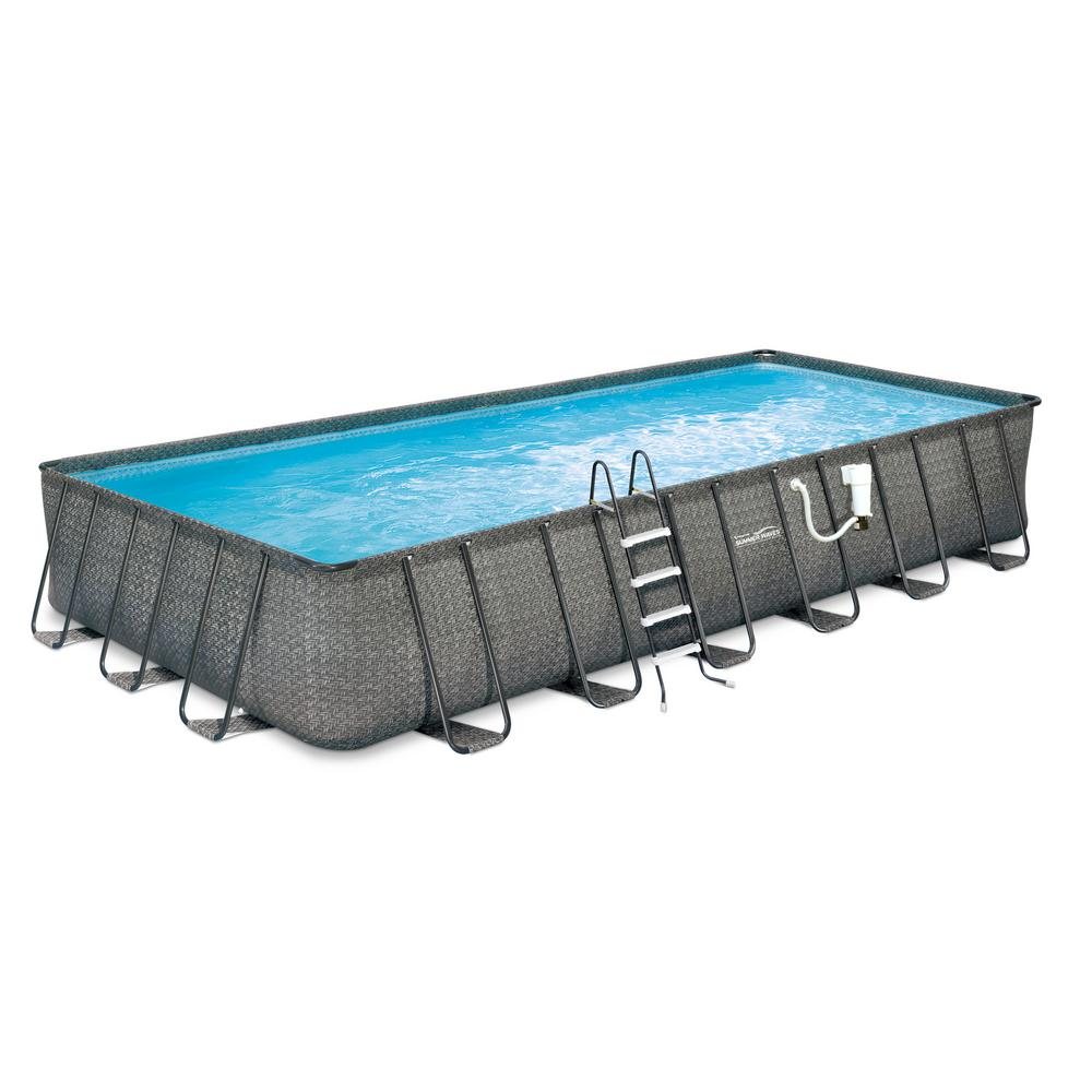 Rectangle Above Ground Pools Pools Pool Supplies The Home Depot