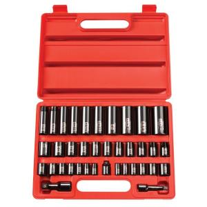 TEKTON 3/8 inch and 1/2 inch Drive 3/8 - 1-1/4 in., 8-32 mm 6-Point Impact Socket Set... by TEKTON