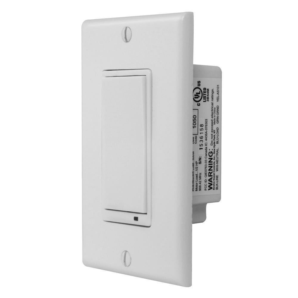 GoControl Z-Wave Wall Mount Switch-WS15Z-1 - The Home Depot