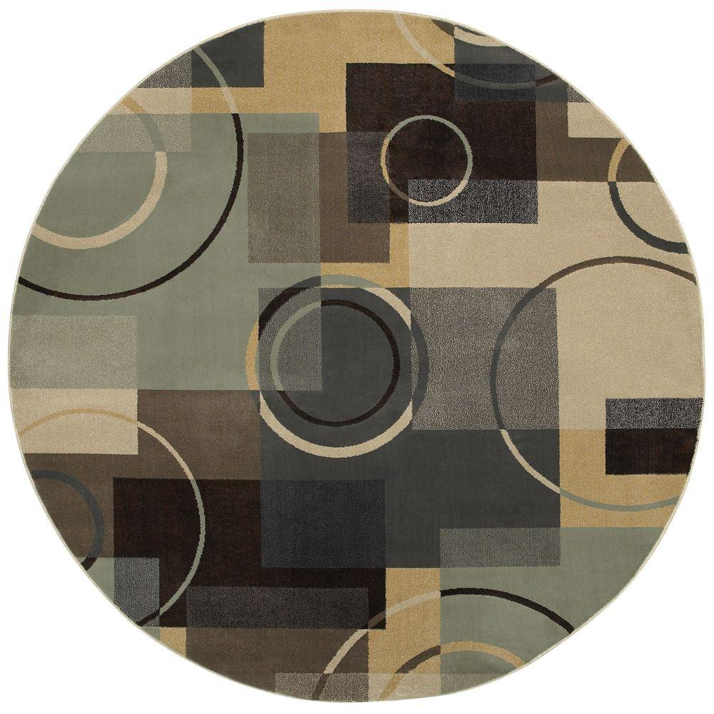Mohawk Home Dawson Shell 8 ft. Round Area Rug