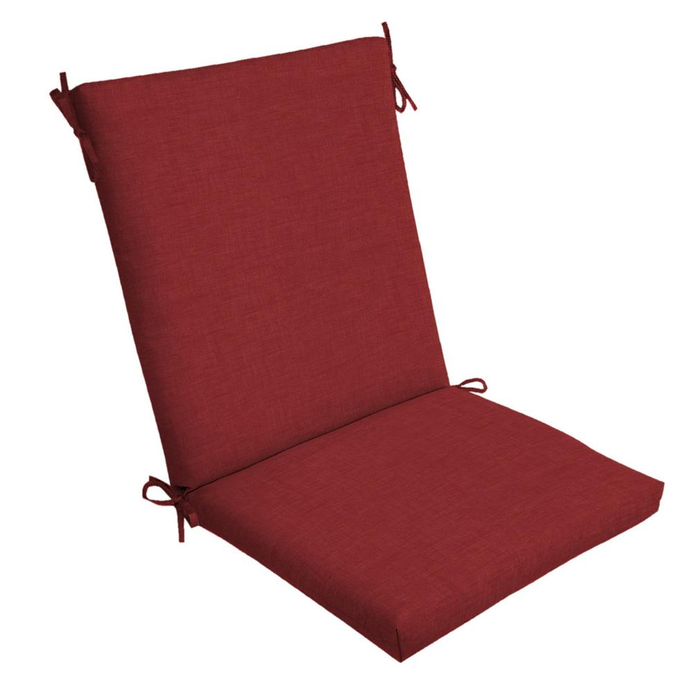 20 x 20 Ruby Leala Texture Outdoor Dining Chair Cushion
