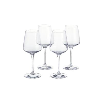 Genoa 15.5 fl. oz. Lead-Free Crystal White Wine Glasses (Set of 4)
