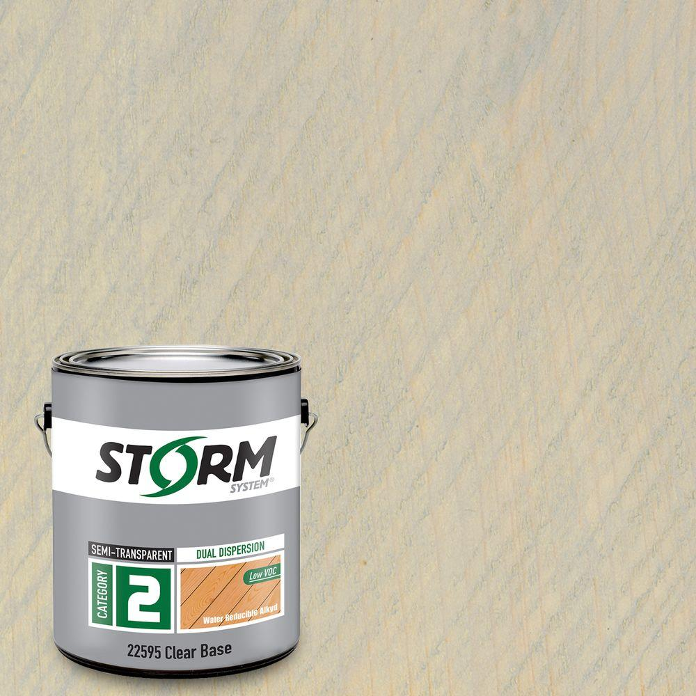 Storm System Category 2 1 gal. Harborside Gray Exterior Semi-Transparent Dual Dispersion Wood Finish