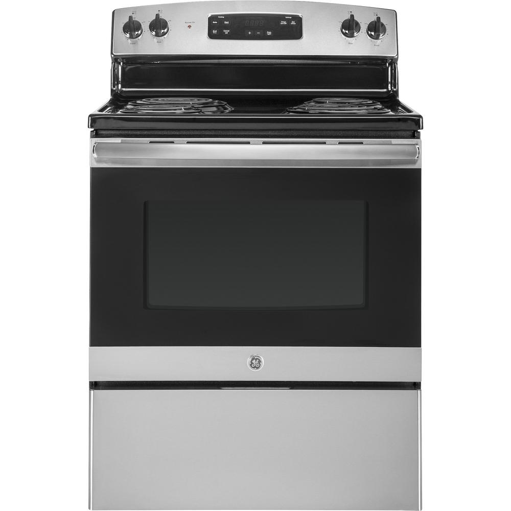 ge 30 in 5 0 cu ft electric range in stainless steel jbs30rkss rh homedepot com GE Profile Manuals GE Security Manuals