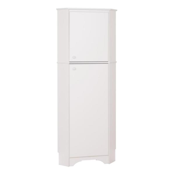 Elite Tall White laminate Storage Cabinet