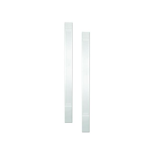 1-1/4 in. x 5-1/4 in. x 90 in. Primed Polyurethane Fluted Economy Pilaster Moulding with Plinth Block