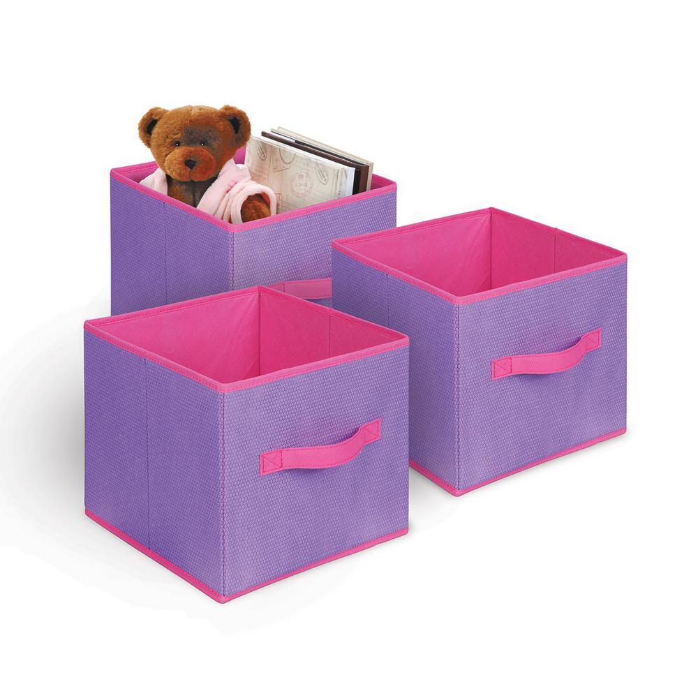Collapsible Storage Cube (3-Pack)  sc 1 st  Home Depot & Multi-Colored - Fabric - Bins u0026 Baskets - Cube Storage u0026 Accessories ...