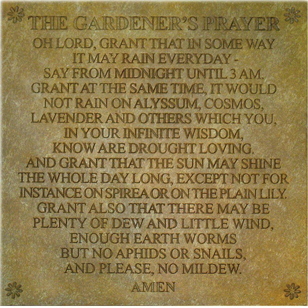 Gardeners Prayer Stepping Stone or Wall Display