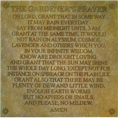 Gardeners Prayer Stepping Stone or Wall Display