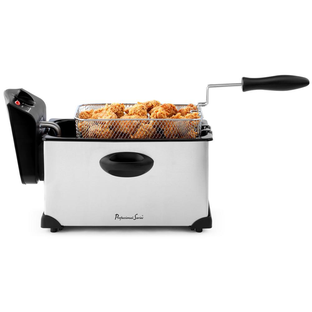 Professional Series 3 QT Stainless Steel Deep Fryer