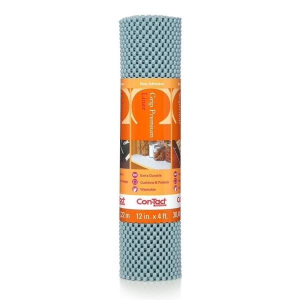 Con-Tact Grip Premium 12 in. x 4 ft. Lagoon Non-Adhesive Thick