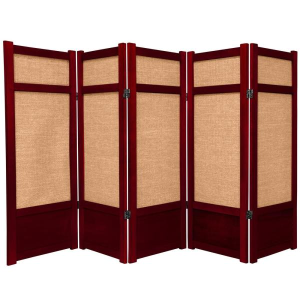 4 ft. Rosewood 5-Panel Room Divider
