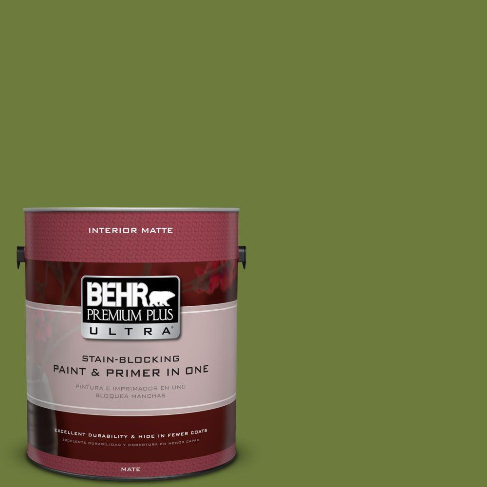 1 gal. #HDC-SM16-11 Hot Dog Relish Flat Interior Paint