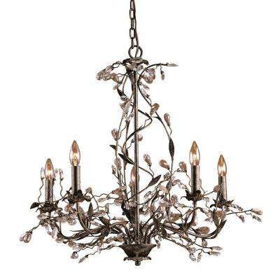 Circeo 5-Light Deep Rust Ceiling Mount Chandelier