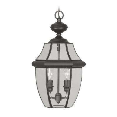 Providence 2-Light Black Outdoor Incandescent Pendant