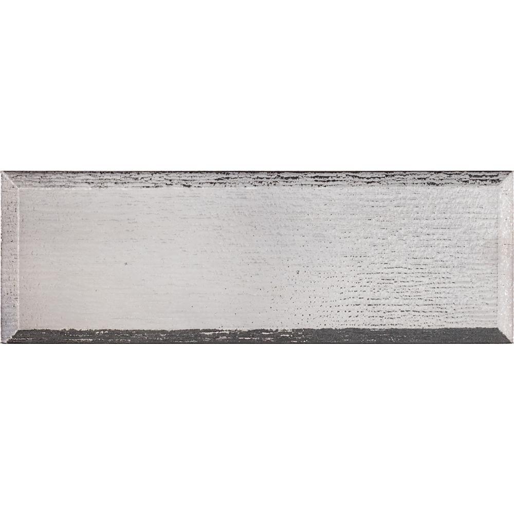 Msi Gray Glisten Beveled 4 In X 12 Gl Wall Tile 5 Sq Ft Case