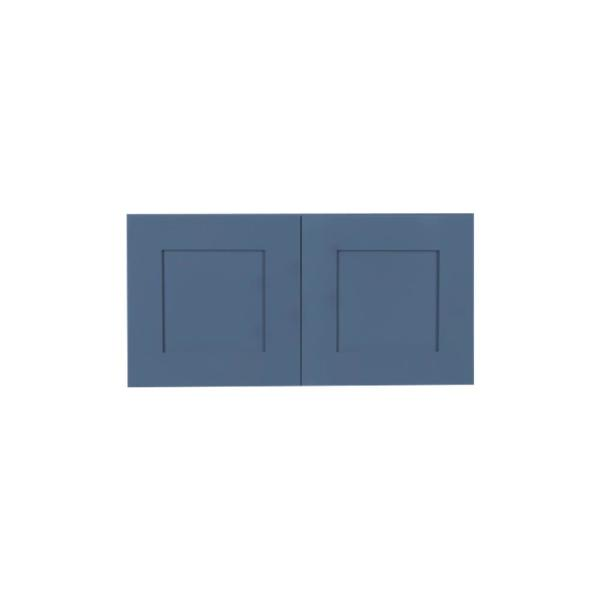 Lifeart Cabinetry Lancaster Medium Blue Plywood Shaker Stock Assembled Wall Kitchen Cabinet 30 In W X 15 In H X 12 In D Alb W3015 The Home Depot