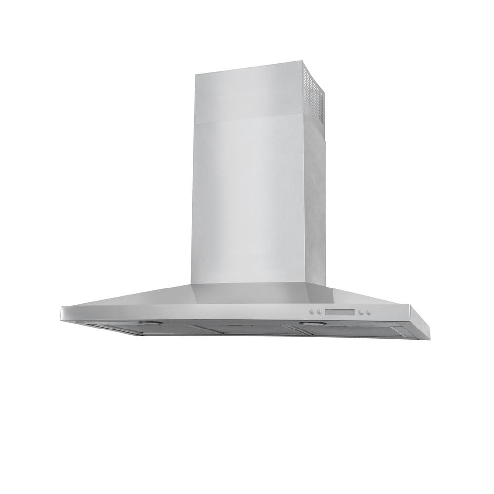 Lesina 36 in. Wall Mount Decorative Range Hood in Stainless Steel