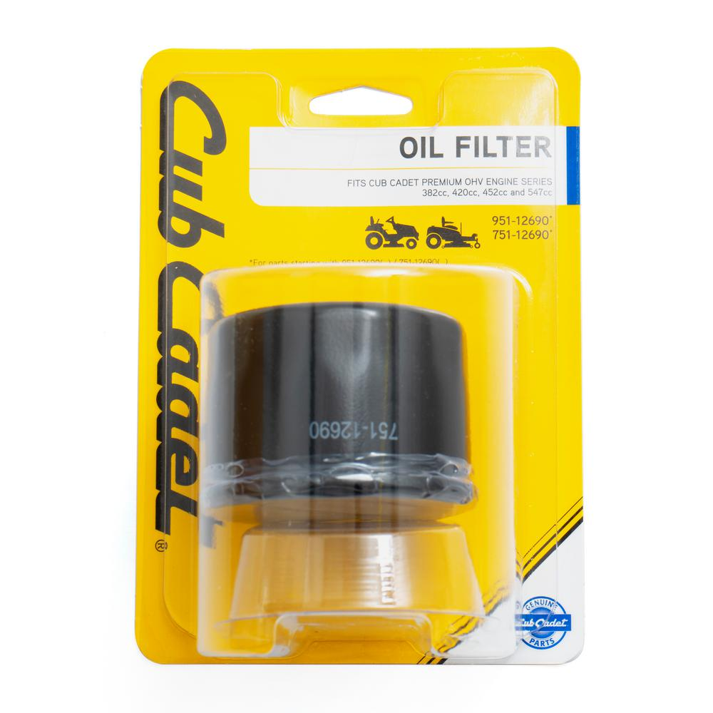 Cub Cadet Premium OHV Engine 382 cc, 420 cc, 452 cc, and 547 cc Oil Filter  OE# 951-12690 / 751-12690