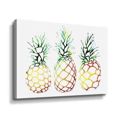 'Retro Pineapples' by  Sam nagel Canvas Wall Art