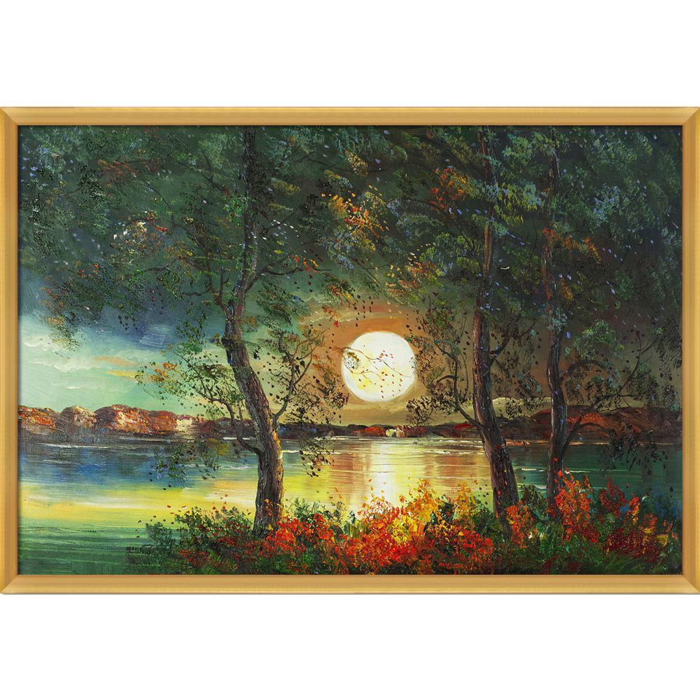 ArtistBe Moon Reproduction with Piccino Luminoso FrameCanvas Print, Multi-color was $944.0 now $459.73 (51.0% off)